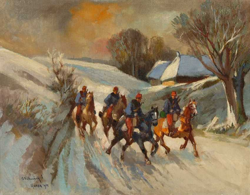 Of Hungarian painters: rider in the snow. - photo 1