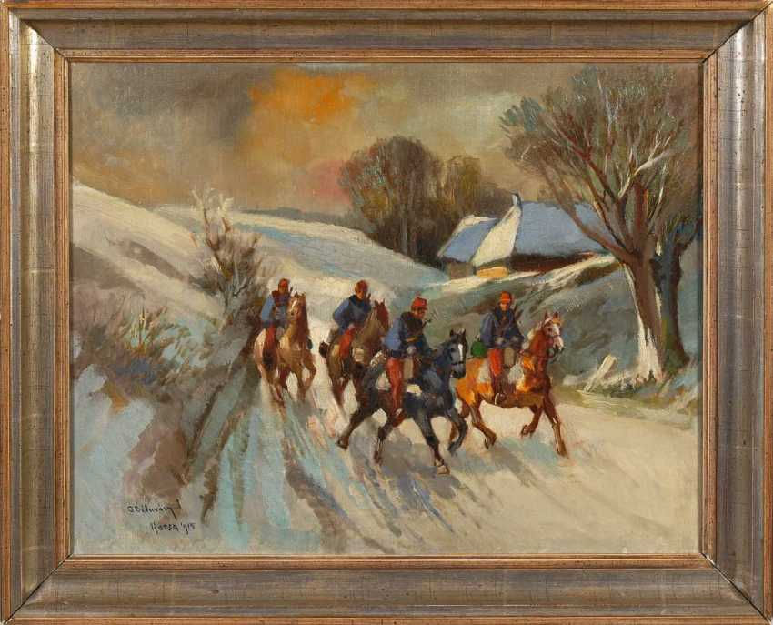 Of Hungarian painters: rider in the snow. - photo 2