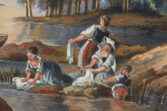 Washerwomen on the river. - photo 2