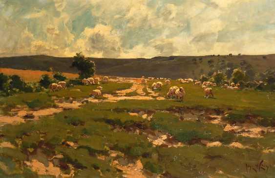 White, José: pasture with sheep. - photo 1