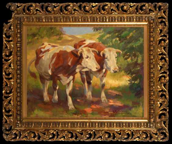 Welmann: Two colorful spotted cows. - photo 2