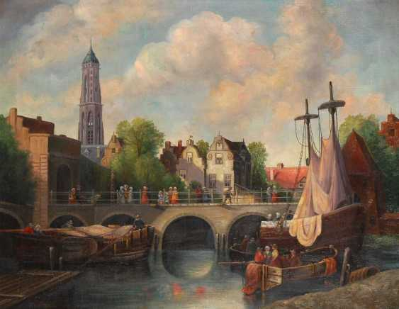 Weltzien, A.: city view with ships - photo 1