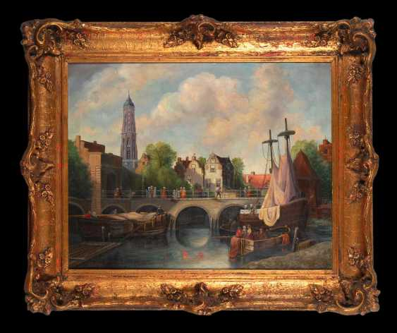 Weltzien, A.: city view with ships - photo 2