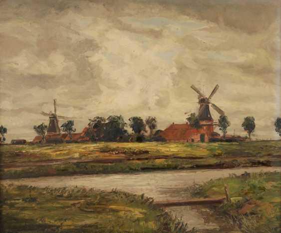 Wenner, Heinz: landscape with mill. - photo 1
