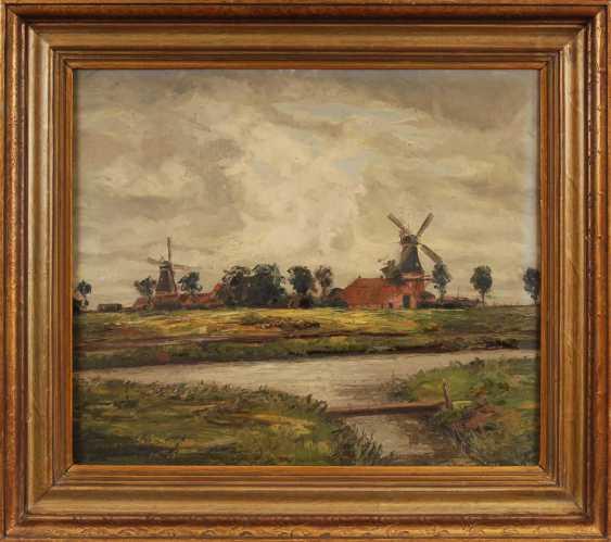 Wenner, Heinz: landscape with mill. - photo 2