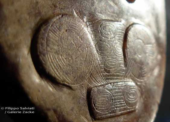 RARE BANGLE WITH GODS FACES SHENMIAN - photo 4
