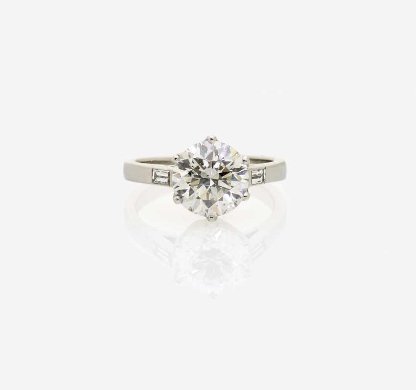Solitaire-Brilliant Ring . England, 1970s - photo 1
