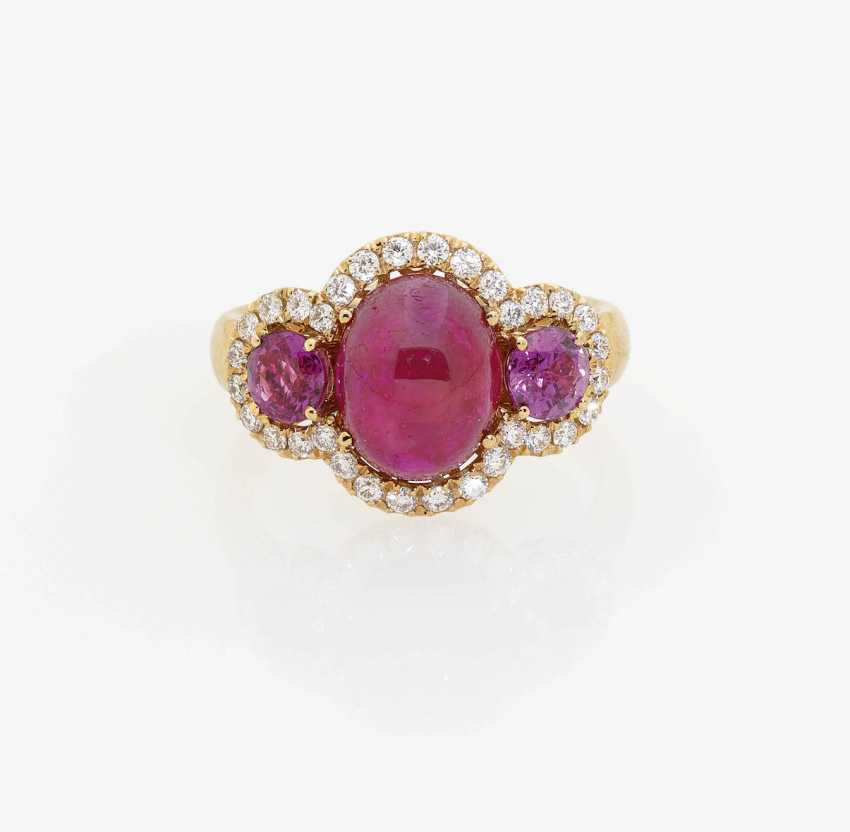 RING WITH RUBIES AND DIAMONDS . Italy - photo 1