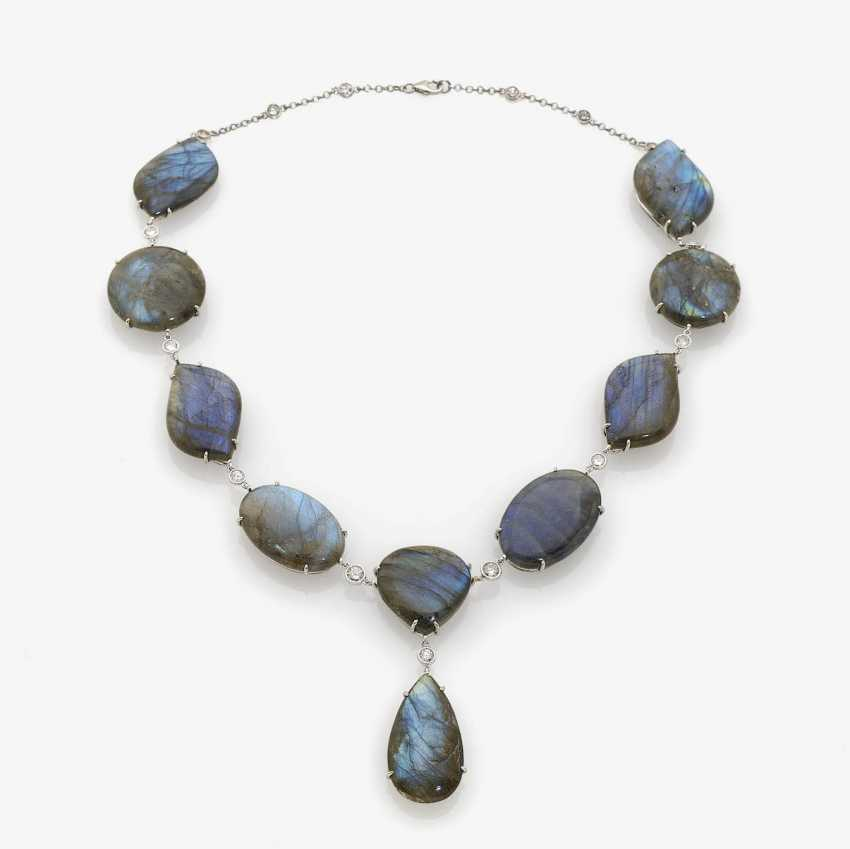 NECKLACE WITH LABRADORITE. - photo 1
