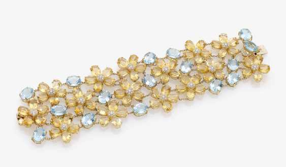 BRACELET WITH TOPAZES, CITRINES AND DIAMONDS . Italy - photo 1