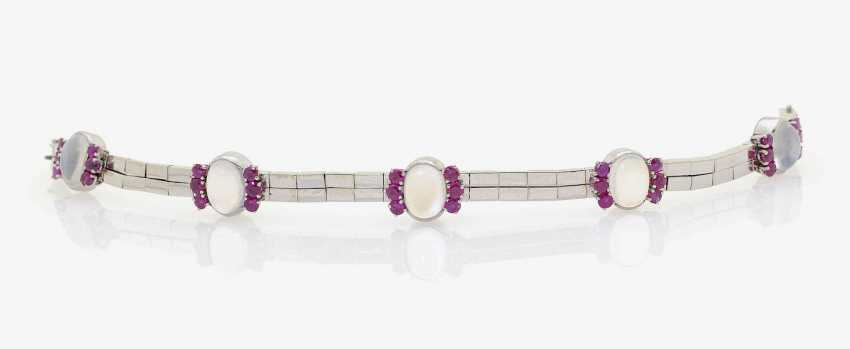 BRACELET WITH MOONSTONES AND RUBIES . Düsseldorf, RENÉ KERN - photo 2