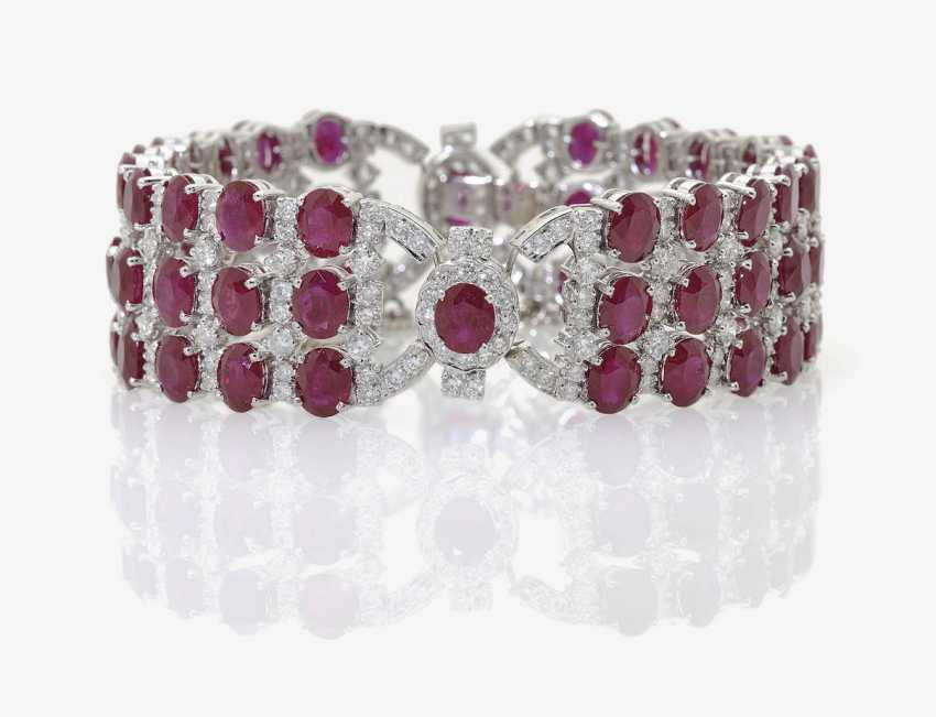 Bracelet with rubies and diamonds . Germany, 1960s - photo 1