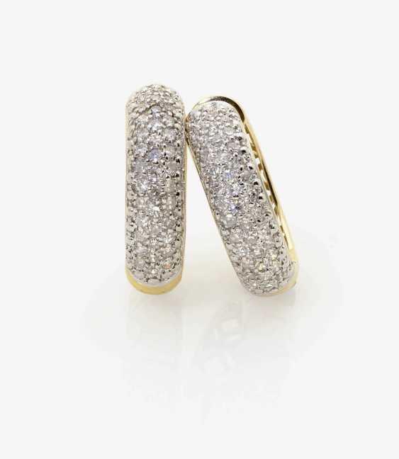 A PAIR OF HOOP EARRINGS WITH DIAMONDS . Germany - photo 1