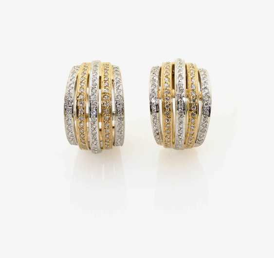 A PAIR OF CLIP EARRINGS WITH DIAMONDS . Germany - photo 1