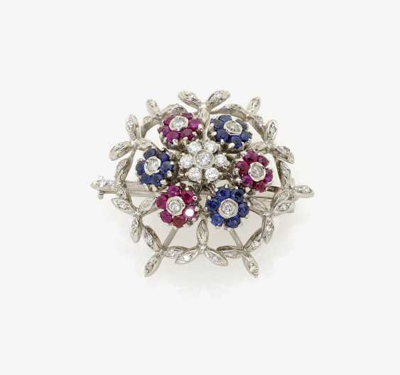 BROOCH WITH ROTATING FLOWERS LOTUS. - photo 1