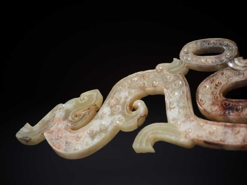 SPIRAL HORNED DRAGON WITH A YOUNG COUNTERPART TO THE FAMOUS DRAGON AMULET AT THE MUSÉE GUIMET - photo 5