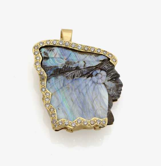 PENDANT WITH a Large OPAL Brazil and . Germany - photo 1