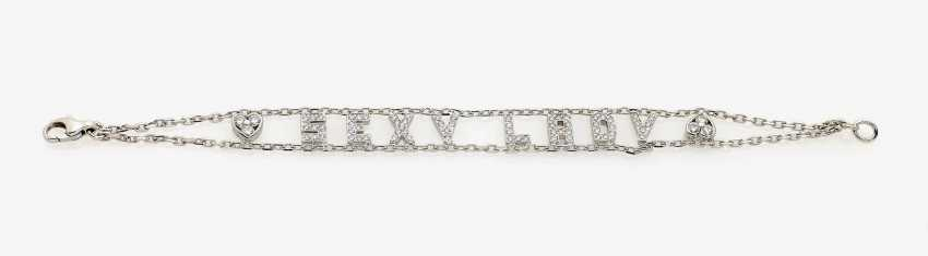 "Link bracelet ""SEXY LADY"", decorated with brilliant-cut diamonds . France, Paris, REPOSSI - photo 1"