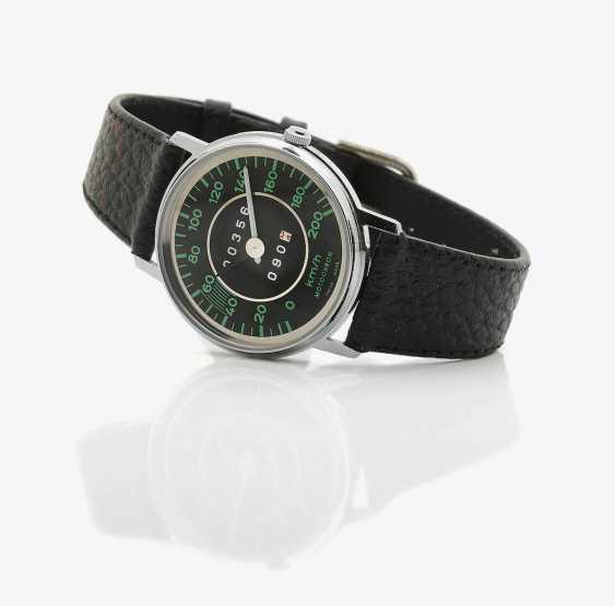 Men's wristwatch . Austria, C. 1990 MOTO chron, PORSCHE 356 SPEEDOMETER WATCH - photo 1