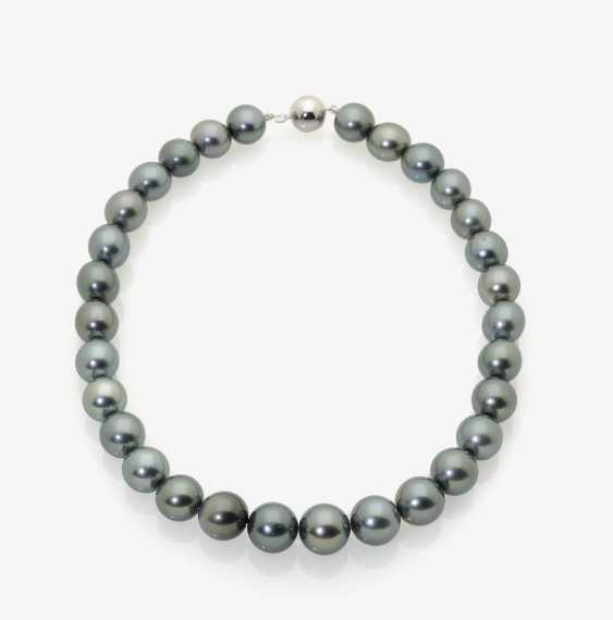 TAHITIAN CULTURED PEARL NECKLACE. - photo 1