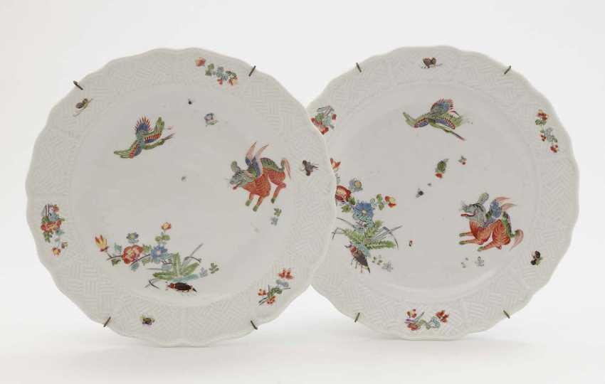Meissen, around 1740 . TWO PLATES - photo 1