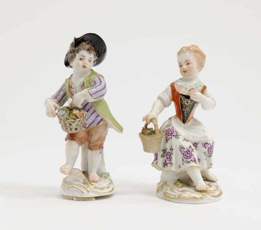 Meissen, model by J. J. Kändler . Two Gardener's Children - photo 1