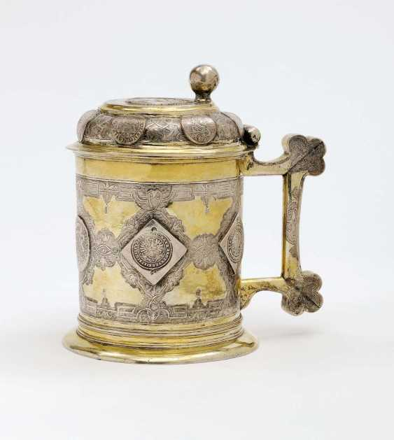 Beuthen on the Oder, 1. District 18. Century, master J. F. C. (John Frederick Clement) . Coin tankard - photo 1