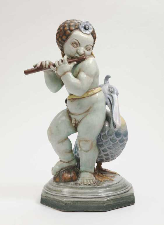 Grand-Ducal majolica manufactory Karlsruhe, the Duke, in 1917, Ludwig Vierthaler . Flute player - photo 1