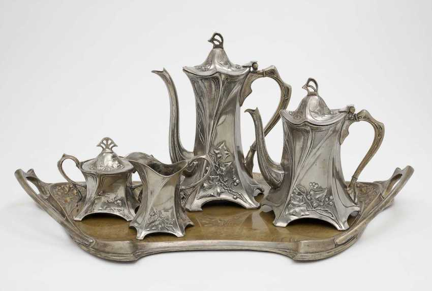 WMF, Geislingen, Germany, after 1909 . Coffee and tea service, five pieces - photo 1