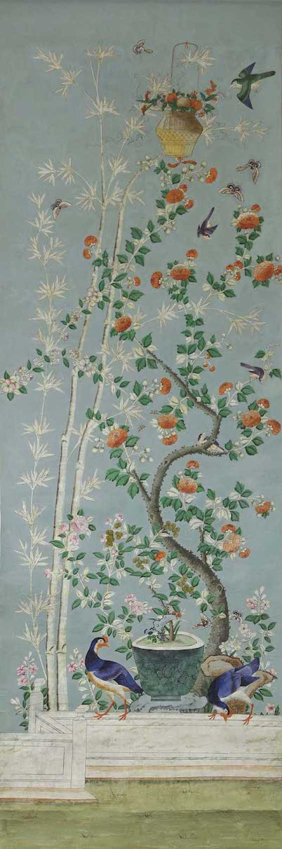 China to 1800/1810 . Nine Wallpapers for a garden room - photo 2