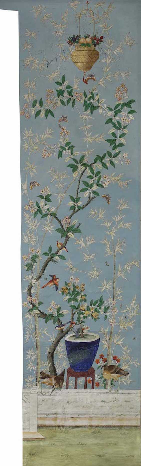 China to 1800/1810 . Nine Wallpapers for a garden room - photo 6