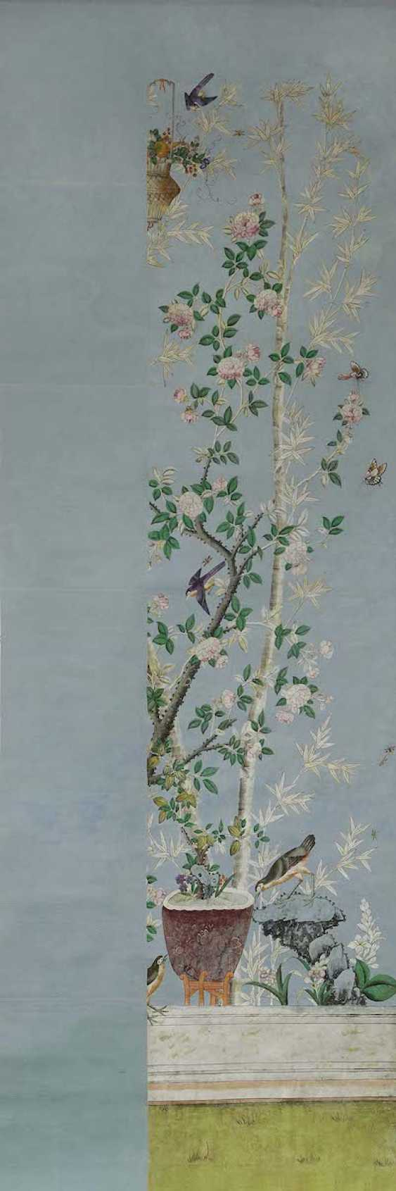 China to 1800/1810 . Nine Wallpapers for a garden room - photo 9