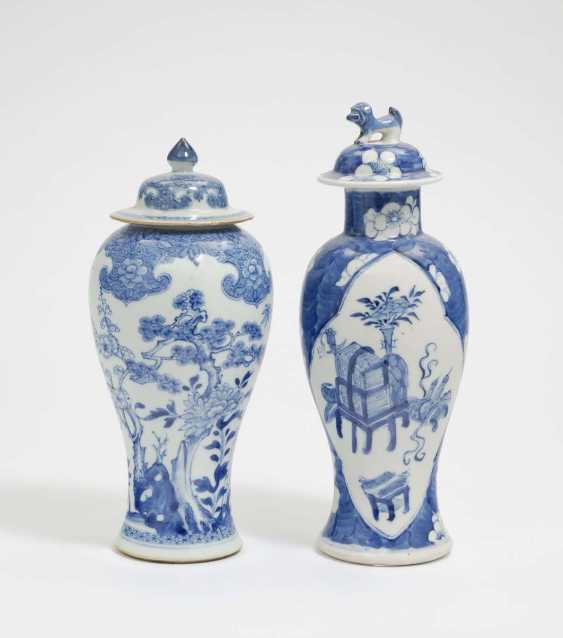 China . Two Lid Vases - photo 1
