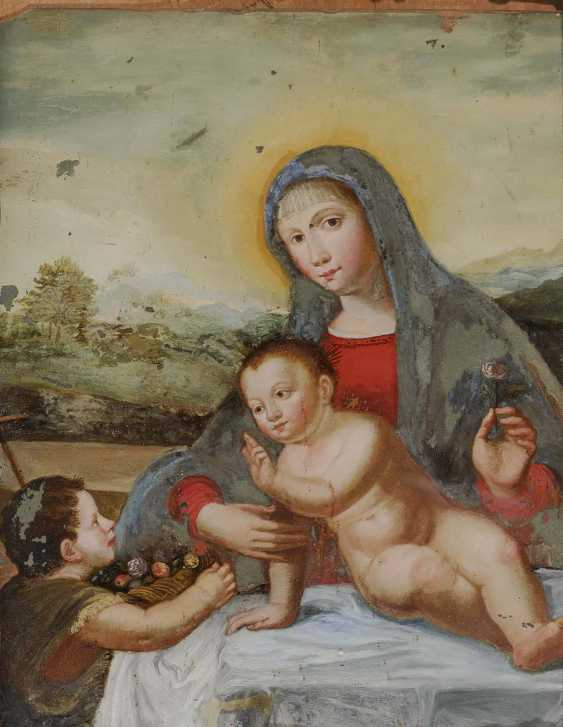 South German, 18. Century. MARY WITH CHILD AND JOHN THE BOYS - photo 1