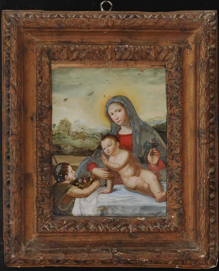 South German, 18. Century. MARY WITH CHILD AND JOHN THE BOYS - photo 2