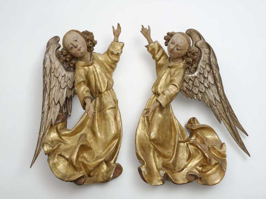 Landshut, Germany, about 1490 . A COUPLE OF ANGELS - photo 1