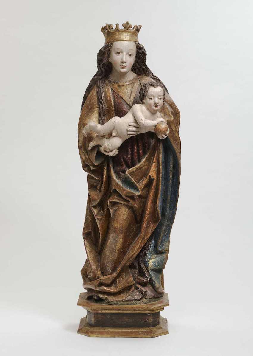 Swabia, around 1490 . MARIA WITH A CHILD - photo 1