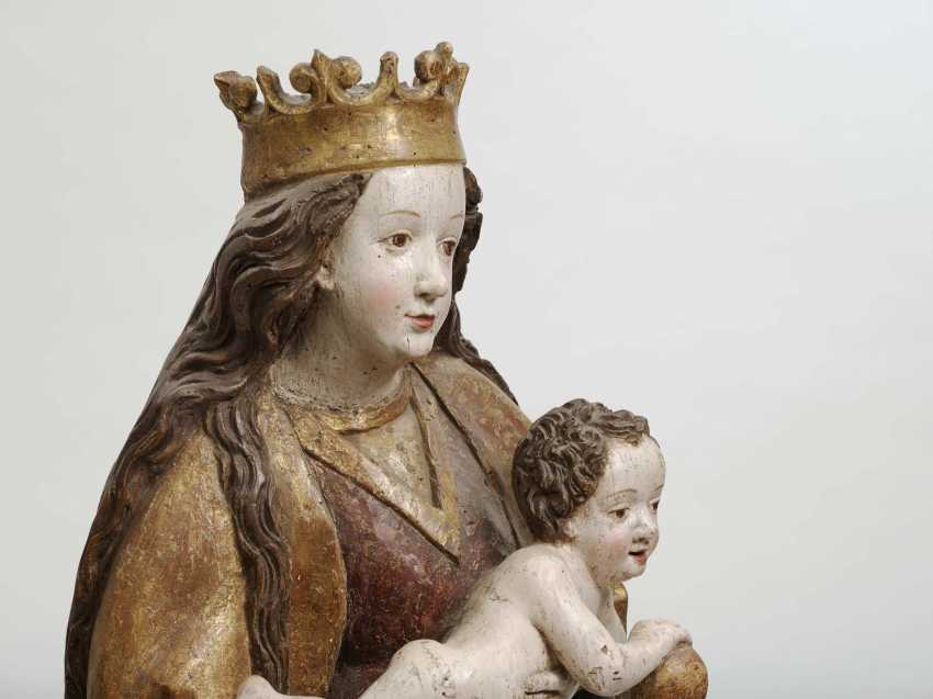 Swabia, around 1490 . MARIA WITH A CHILD - photo 2