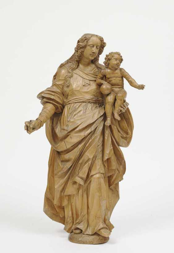 Südeutsch (Weilheim), In The Middle Of 17. Century . MARIA WITH A CHILD - photo 1