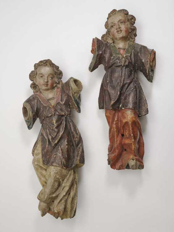 South German, End Of 17. Century . A COUPLE OF ANGELS - photo 1