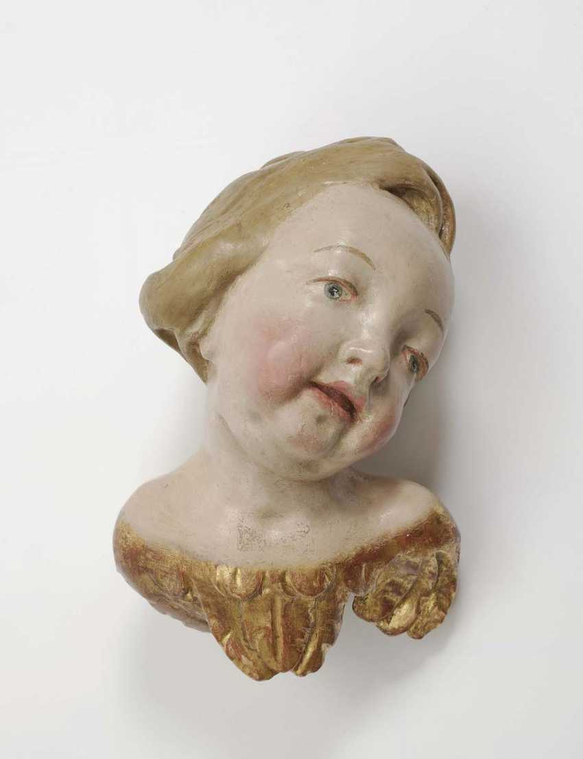 Bavaria, In The Middle Of 18. Century . A WINGED ANGEL'S HEAD - photo 1