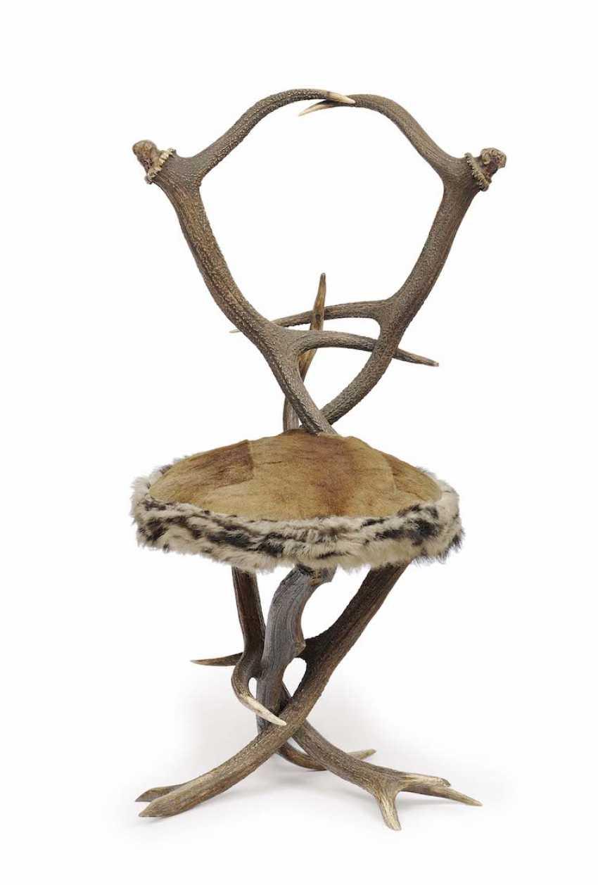 Austria, around 1860/70 . Antler chair - photo 1