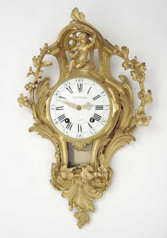 Paris, Louis XV, 18. Century (Jean-Jacques I), Verdier . Cartel clock - photo 1
