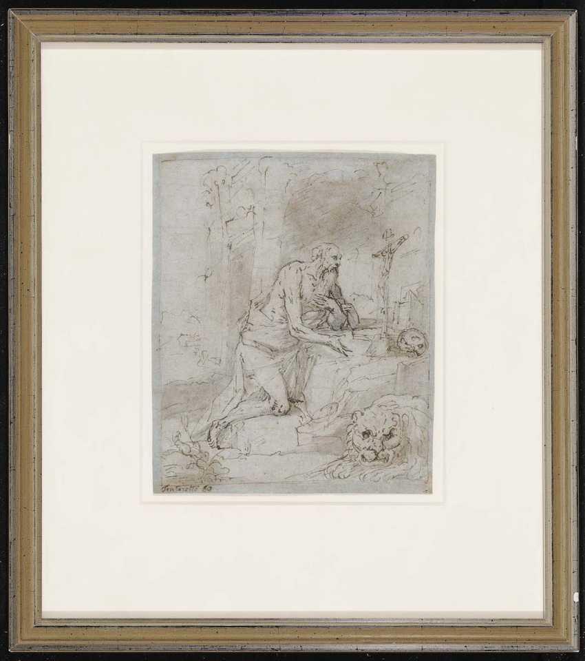 Venetian 16./17. Century. Büßender Hl. Jerome - photo 2