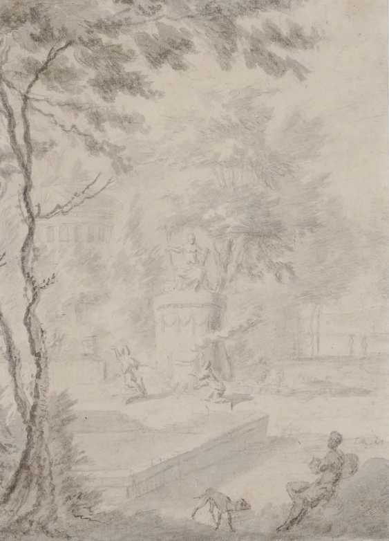 Netherlands (?) 17./18. Century. Park landscape with figure staffage - photo 1