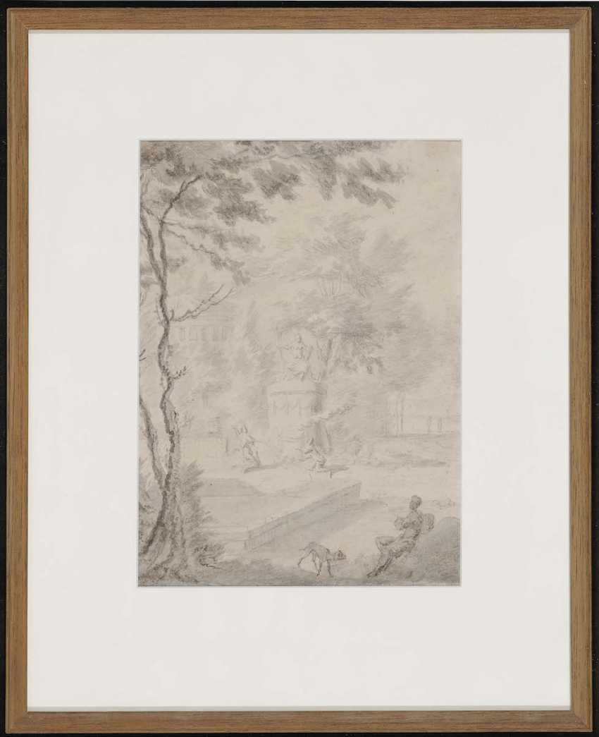 Netherlands (?) 17./18. Century. Park landscape with figure staffage - photo 2
