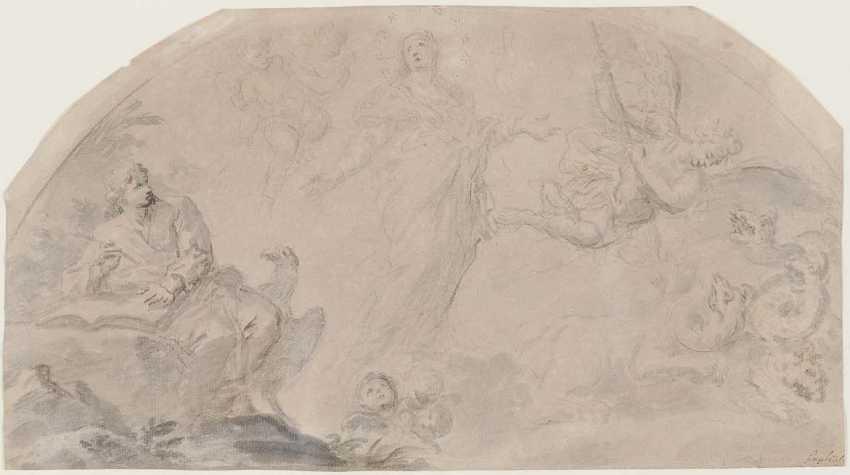 ITALY 18. Century. Vision of St. John the Evangelist - photo 1