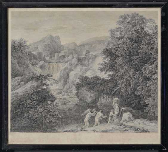 Rahl, Carl Heinrich. Landscape with waterfall and figure staffage - photo 2