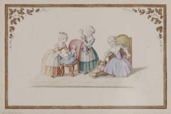 Buttlar (Butlar), Augusta. Three girls with dolls - photo 1