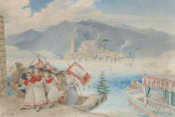 SCHNORR VON CAROLSFELD, LUDWIG FERDINAND. Pilgerfahrt zum Schrein der Madonna del Sasso am Lago MaGelbgoldiore - photo 1